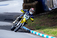 Richard Dibben (Wanganui) competes in Supermoto race one during the 2018 Suzuki series Cemetery Circuit motorcycle racing at Cooks Gardens in Wanganui, New Zealand on Wednesday, 28 December 2018. Photo: Dave Lintott / lintottphoto.co.nz