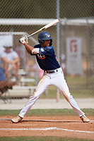 Andruw Jones (25) during the WWBA World Championship at the Roger Dean Complex on October 13, 2019 in Jupiter, Florida.  Andruw Jones attends Wesleyan High School in Suwanee, GA and is committed to Vanderbilt.  (Mike Janes/Four Seam Images)