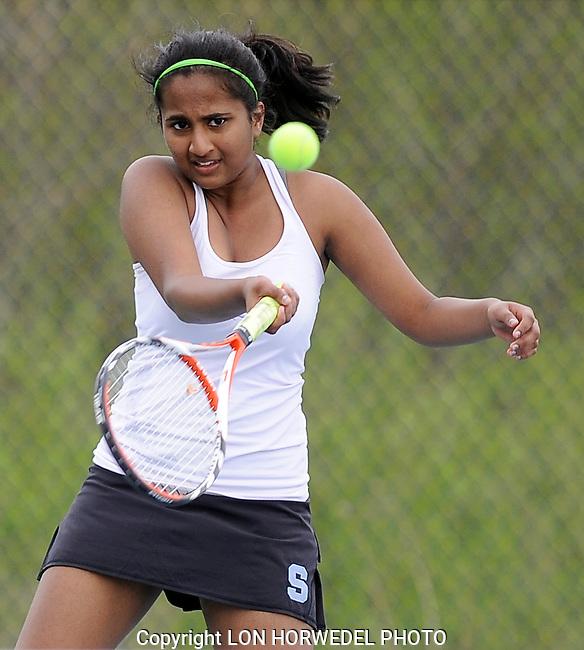 Skyline High School girl's varsity tennis vs. Monroe High School at Skyline. 5/7/14