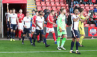 Bolton Wanderers walk on to the pitch at the start of the game<br /> <br /> Photographer Rachel Holborn/CameraSport<br /> <br /> The Carabao Cup - Crewe Alexandra v Bolton Wanderers - Wednesday 9th August 2017 - Alexandra Stadium - Crewe<br />  <br /> World Copyright &copy; 2017 CameraSport. All rights reserved. 43 Linden Ave. Countesthorpe. Leicester. England. LE8 5PG - Tel: +44 (0) 116 277 4147 - admin@camerasport.com - www.camerasport.com
