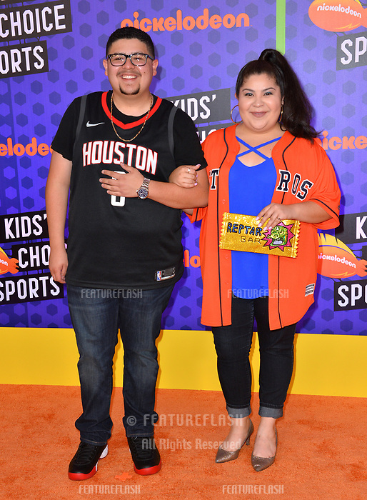 Rico Rodriguez & Raini Rodriguez at the Nickelodeon Kids' Choice Sports Awards 2018 at Barker Hangar, Santa Monica, USA 19 July 2018<br /> Picture: Paul Smith/Featureflash/SilverHub 0208 004 5359 sales@silverhubmedia.com