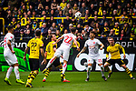 11.05.2019, Signal Iduna Park, Dortmund, GER, 1.FBL, Borussia Dortmund vs Fortuna Düsseldorf, DFL REGULATIONS PROHIBIT ANY USE OF PHOTOGRAPHS AS IMAGE SEQUENCES AND/OR QUASI-VIDEO<br /> <br /> im Bild | picture shows:<br /> Kevin Stoeger (Fortuna #22) klaert im Strafraum, <br /> <br /> Foto © nordphoto / Rauch