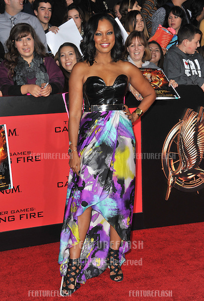 Garcelle Beauvais at the US premiere of &quot;The Hunger Games: Catching Fire&quot; at the Nokia Theatre LA Live.<br /> November 18, 2013  Los Angeles, CA<br /> Picture: Paul Smith / Featureflash