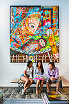 Isha Datar, Faculty of Science Alumna and CEO of New Harvest  (a non-profit research institute building and establishing the field of cellular agriculture), and New Harvest Communications Director, Erin Kim, visit the Sag Harbor, NY,  home of donor, hedge fund manager and art collector, Adam Sender, on August 14, 2016. <br /> Credit: John Ulan