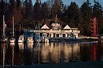 Boat house, Stanly park, English bay.Vancouver,British Colombia, Canada