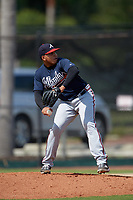 Atlanta Braves pitcher Daysbel Hernandez (11) during an Instructional League game against the Philadelphia Phillies on October 9, 2017 at the Carpenter Complex in Clearwater, Florida.  (Mike Janes/Four Seam Images)