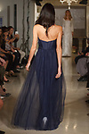 Model walks runway in bridesmaid dress from the Oleg Cassini Weddings Spring Summer 2018 collection fashion show, at 15 East 63 Street on October 6, 2017; during New York Bridal Fashion Week.