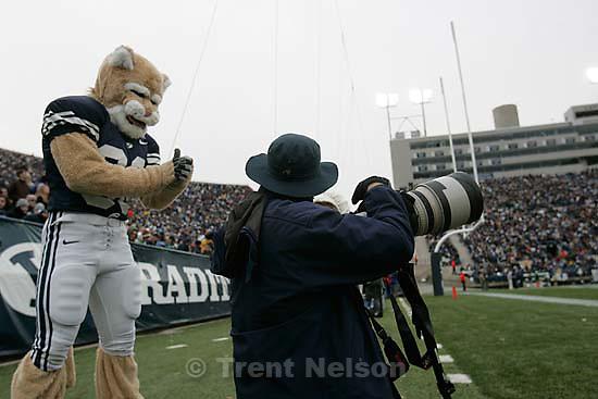 BYU vs. Air Force college football Saturday, November 21 2009. Cosmo, Jaren Wilkey