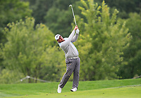 Clement Berardo (FRA) on the 5th fairway during Round 3 of the D+D Real Czech Masters at the Albatross Golf Resort, Prague, Czech Rep. 02/09/2017<br /> Picture: Golffile | Thos Caffrey<br /> <br /> <br /> All photo usage must carry mandatory copyright credit     (&copy; Golffile | Thos Caffrey)