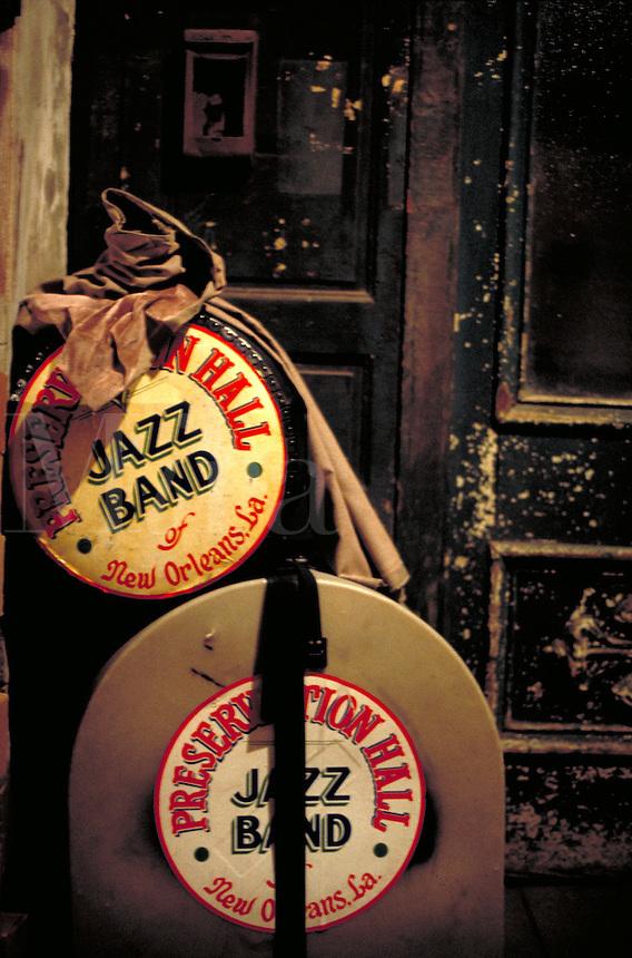 Preservation Hall Jazz Band instrument cases