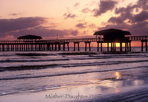 The pier off Fort Myers beach at sunset