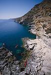 Crete, Greece, Sea Kayakers explore the southwest coast, Mediterranean Sea, Europe, Feathercraft breakdown aluminum and fabric sea kayaks,