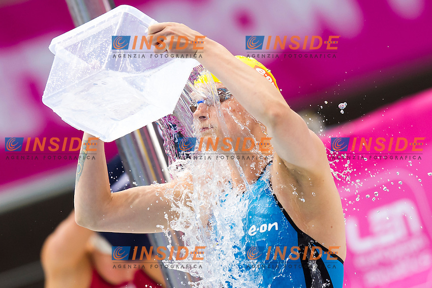 SJOESTROEM Sarah SWE gold medal<br /> London, Queen Elizabeth II Olympic Park Pool <br /> LEN 2016 European Aquatics Elite Championships <br /> Swimming<br /> Women's 100m freestyle final  <br /> Day 10 18-05-2016<br /> Photo Giorgio Perottino/Deepbluemedia/Insidefoto