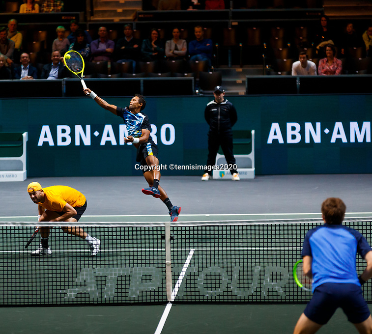 Rotterdam, The Netherlands, 15 Februari 2020, ABNAMRO World Tennis Tournament, Ahoy, <br /> Dooubles: Raven Klaasen (RSA) and Oliver Marach (AUT). <br /> Photo: www.tennisimages.com