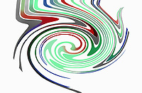 Abstract multicoloured swirling pattern