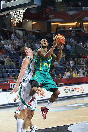 05.09.2010 Basketball World Championships from Istanbul. Slovenia v Australia. Picture shows PATRICK MILLS