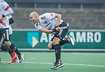 AMSTELVEEN - Justin Reid-Ross (Adam) tijdens de hoofdklasse competitiewedstrijd mannen, Amsterdam-HCKC (1-0).  COPYRIGHT KOEN SUYK