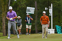 Cole Hammer (a)(USA) shares a laugh as he heads down 11 during round 4 of the 2019 Houston Open, Golf Club of Houston, Houston, Texas, USA. 10/13/2019.<br /> Picture Ken Murray / Golffile.ie<br /> <br /> All photo usage must carry mandatory copyright credit (© Golffile | Ken Murray)