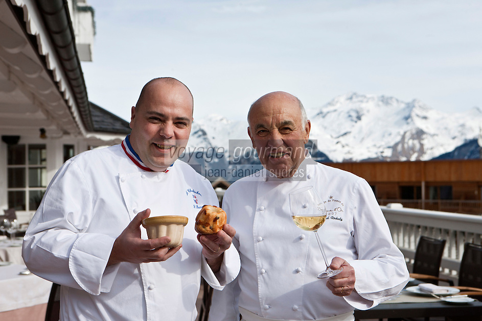 Europe/France/Rhone-Alpes/73/Savoie/Courchevel: Michel Rochedy et son chef Stéphane Buron , Hôtel-Restaurant: Le Chabichou, [Non destiné à un usage publicitaire - Not intended for an advertising use]