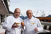 Europe/France/Rhone-Alpes/73/Savoie/Courchevel: Michel Rochedy et son chef Stéphane Buron , Hôtel-Restaurant: Le Chabichou, [Non destiné à un usage publicitaire - Not intended for an advertising use]