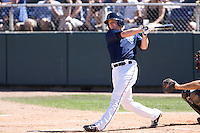July 11, 2010: Everett AquaSox's Hawkins Gebbers (9) at-bat during a Northwest League game against the Salem-Keizer Volcanoes at Everett Memorial Stadium in Everett, Washington.
