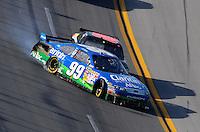 Apr 26, 2009; Talladega, AL, USA; NASCAR Sprint Cup Series driver Brad Keselowski (09) makes contact with Carl Edwards (99) on the last lap during the Aarons 499 at Talladega Superspeedway. Mandatory Credit: Mark J. Rebilas-