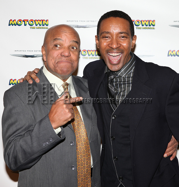 Berry Gordy & Director Charles Randolph-Wright attending the 'MOTOWN The Musical' Meet & Greet at the New 42nd Street Studios in New York City on 2/7/2013