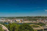 Pittsburgh - City skyline, architecture, architectural detail, neighborhoods, bridges, and urban textures