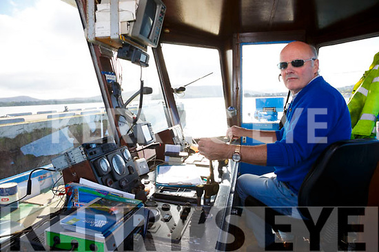 Donal Walsh one of the Valentia Island Ferry Skippers on the last shift of the ferry service.  Donal piloted the first Ferry crossing on the 10th July 1996 and last on Sunday evening