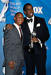 "LOS ANGELES, CA. - February 12: Actors Justin Martin and Sean ""Diddy"" Combs pose in the press room for the 40th NAACP Image Awards at the Shrine Auditorium on February 12, 2009 in Los Angeles, California."