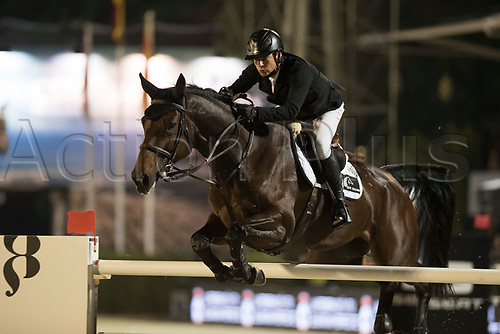 29th September 2017, Real Club de Polo de Barcelona, Barcelona, Spain; Longines FEI Nations Cup, Jumping Final; MEECH Daniel (NZL) riding Fine during the final of the Nations Cup