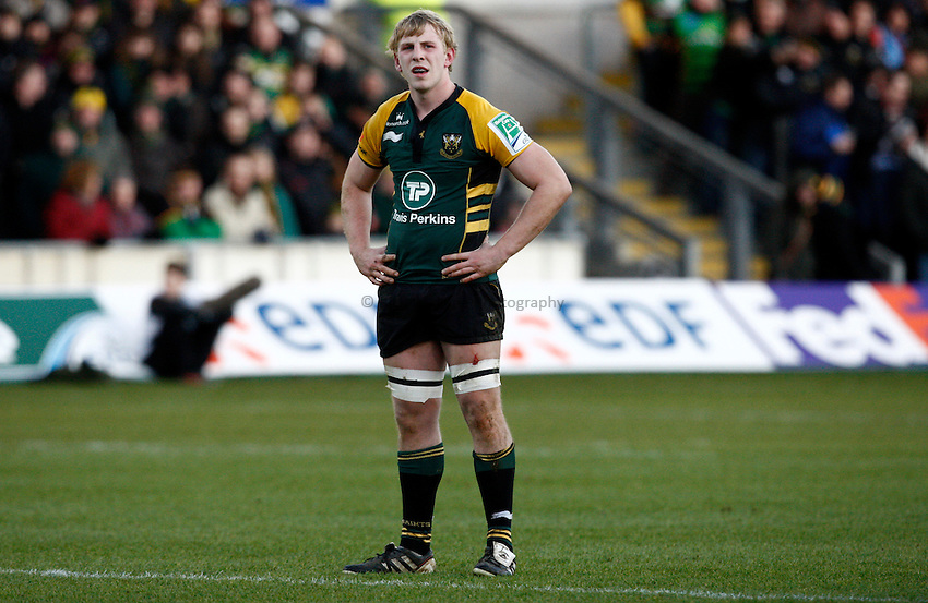 Photo: Richard Lane/Richard Lane Photography. Northampton Saints v Castres. Heineken Cup. 18/12/2011. Saints' Ben Nutley.