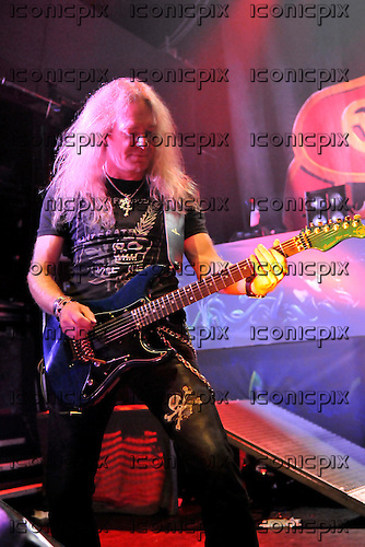 Saxon - guitarist Doug Scarratt performing live on the 30th Anniversary Tour at Koko in London - 08 Nov 2009 - Photo by: George chin