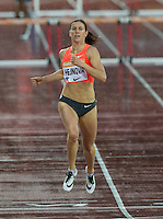 Zuzana HEJNOVA (CZE) wins the 400m Hurdles in 53.99 during the Sainsburys Anniversary Games at the Olympic Park, London, England on 24 July 2015. Photo by Andy Rowland.