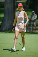 Michelle Wie (USA) sinks her par putt on 2 during round 4 of the U.S. Women's Open Championship, Shoal Creek Country Club, at Birmingham, Alabama, USA. 6/3/2018.<br /> Picture: Golffile | Ken Murray<br /> <br /> All photo usage must carry mandatory copyright credit (&copy; Golffile | Ken Murray)