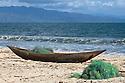 Fisherman's dugout canoe, Antongil Bay, Northeast Madagascar.