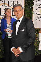 George Clooney at the 72nd Annual Golden Globe Awards at the Beverly Hilton Hotel, Beverly Hills.<br /> January 11, 2015  Beverly Hills, CA<br /> Picture: Paul Smith / Featureflash