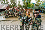 CBS, The Green students and teachers, pictured at Predator Paintball, Tralee, on Wednesday morning last in foreground are l-r: Oscar Morrison, Rebecca Tobin and Samuel Regan.