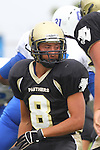 Palos Verdes, CA 09/16/11 - Belal Awad (Peninsula #8) in action during the Culver City-Peninsula varsity football game.