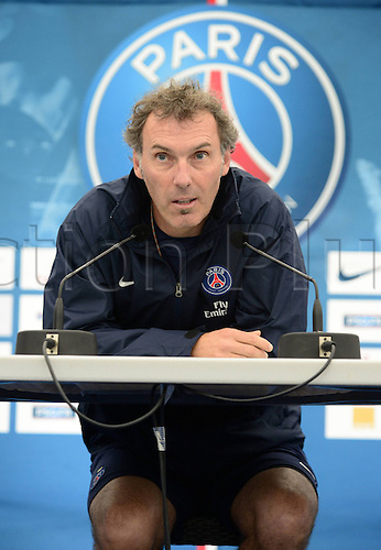 03.07.2013. Paris, France.   Laurent Blanc Paris Saint Germain new manager at the press conference and first training session since he became manager at PSG.