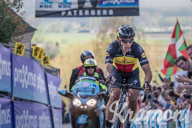 Philippe Gilbert (BEL/Quick Step floors) tops the Paterberg detached from the leaders group he was in<br /> <br /> 101th Ronde Van Vlaanderen 2017 (1.UWT)<br /> 1day race: Antwerp &rsaquo; Oudenaarde - BEL (260km)