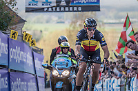 Philippe Gilbert (BEL/Quick Step floors) tops the Paterberg detached from the leaders group he was in<br /> <br /> 101th Ronde Van Vlaanderen 2017 (1.UWT)<br /> 1day race: Antwerp › Oudenaarde - BEL (260km)