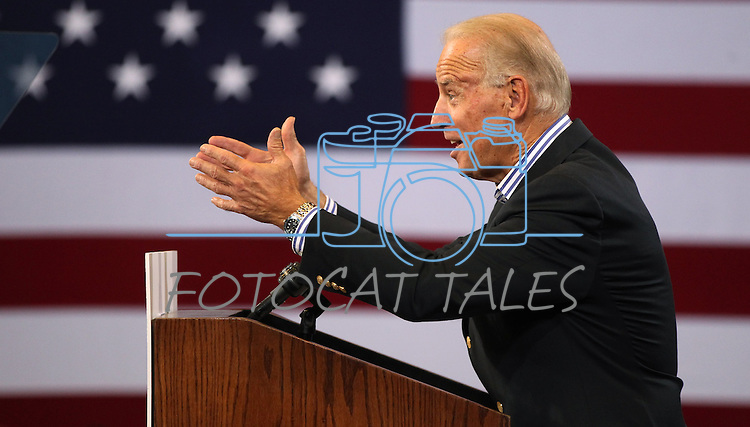 Vice President Joe Biden campaigns in Reno, Nev., on Wednesday, Oct. 17, 2012. (AP Photo/Cathleen Allison)