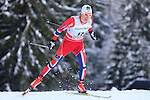 Norway's Eirik Brandsdal competes during the FIS Ski World Cup 1.3 Km Sprint Free Qualification, on February 2, 2014 in Dobbiaco, Toblach. <br /> <br /> &copy; Pierre Teyssot