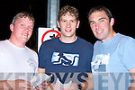 PROGRAMMES: Danny and Chris Fitzgerald and Paudie Murphy (Killorglin) marking their programme at the Kingdom Greyhound Stadium Tralee on Saturday night..   Copyright Kerry's Eye 2008
