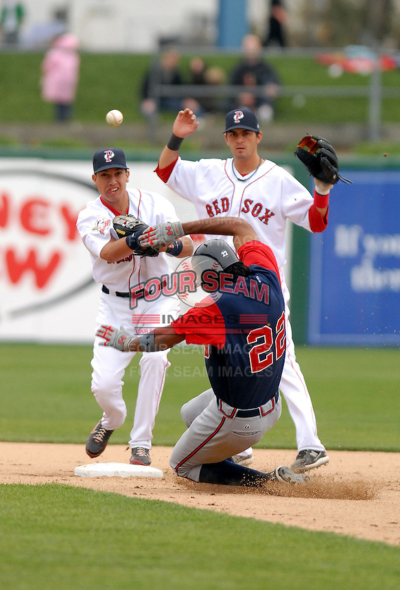 Iggy Suarez of the Pawtucket Red Sox, the AAA International League affiliate of the Boston Red Sox, at McCoy Stadium in Pawtucket, RI 5-3-09 (Photo by Ken Babbitt/Four Seam Images)