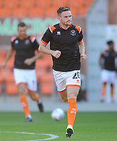 Blackpool's Oliver Turton during the pre-match warm-up <br /> <br /> Photographer Kevin Barnes/CameraSport<br /> <br /> The Carabao Cup First Round - Blackpool v Macclesfield Town - Tuesday 13th August 2019 - Bloomfield Road - Blackpool<br />  <br /> World Copyright © 2019 CameraSport. All rights reserved. 43 Linden Ave. Countesthorpe. Leicester. England. LE8 5PG - Tel: +44 (0) 116 277 4147 - admin@camerasport.com - www.camerasport.com