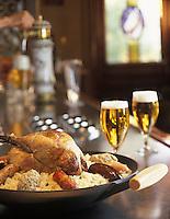 Europe/France/Alsace/67/Bas-Rhin/Strasbourg: Choucroute alsacienne au faisan  et verre de bière