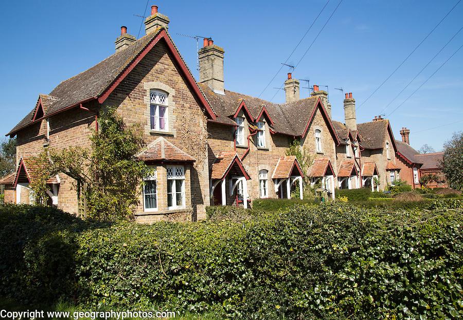 Village housing for estate workers, Somerleyton, Suffolk, England, UK