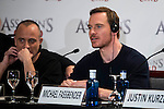 "Javier Gutierrez and Michael Fassbender during the presentation of the film ""Assassin's Creed"" in Madrid, Spain. December 07, 2016. (ALTERPHOTOS/BorjaB.Hojas)"
